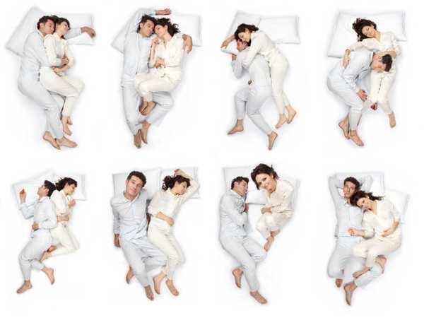 разные позы для сна вдвоем